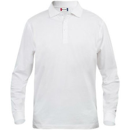Clique Polo Longsleeve Wit